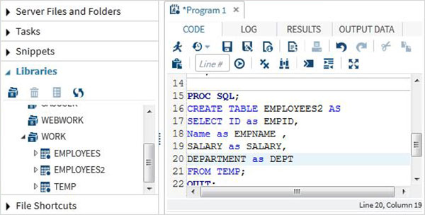Sas sql for Sql table design query
