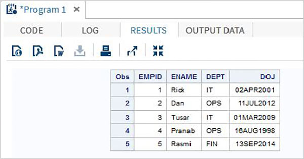 SAS - Input Methods - Tutorialspoint