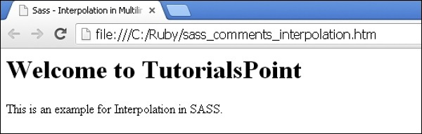 Sass - Interpolation in Multiline Comments