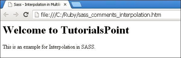 Sass Comments
