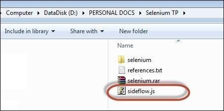 Selenium IDE 24