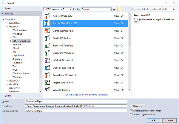 App for SharePoint 2013