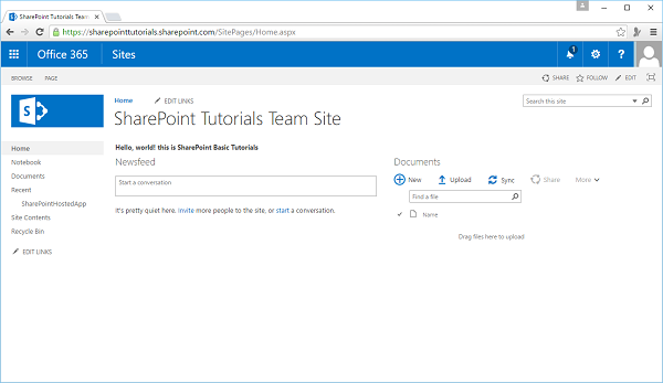 SharePoint - Quick Guide