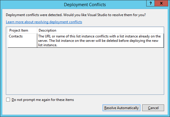 Deployment Conflicts
