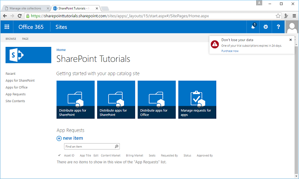 Navigate to SharePoint