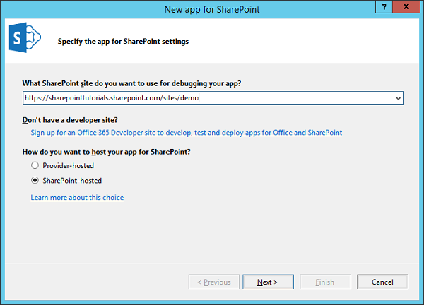 SharePoint Hosted