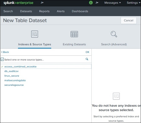 Splunk - Pivot and Datasets - Tutorialspoint