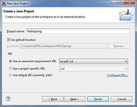 Step 1   Create Java Project