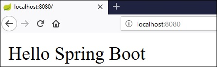 Spring Boot - Quick Guide