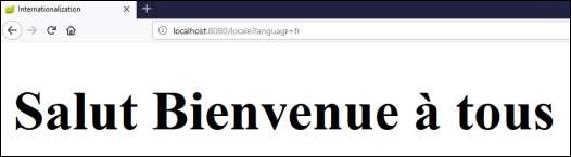 Output Web Browser Salut Bienvenue