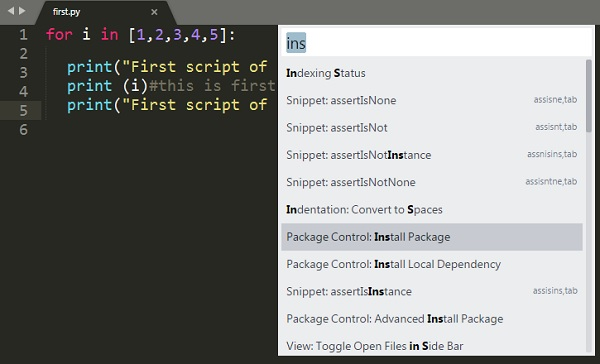 Sublime Text - Quick Guide - Tutorialspoint