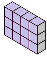 surface area of a rectangular prism made of unit cubes
