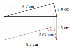 Surface Area of a Triangular Prism Online Quiz