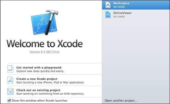 Xcodeを開く