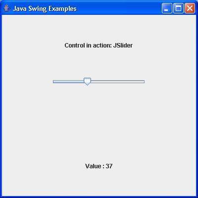 SWING - JSlider Class - Tutorialspoint