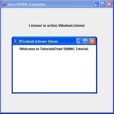 SWING WindowListener