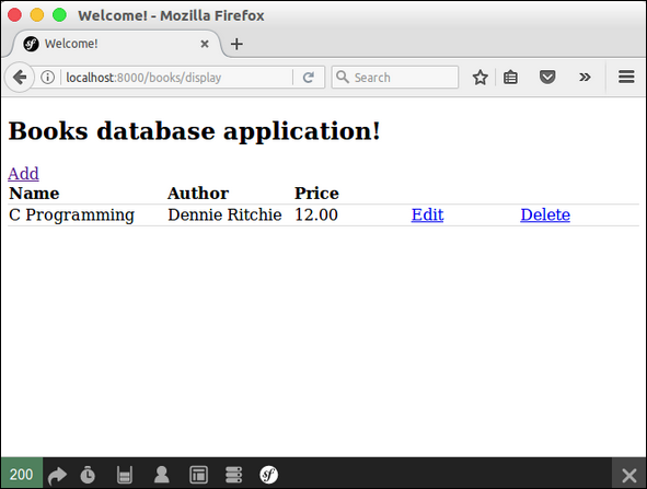 Books Database Application