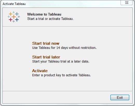 Tableau - Environment Setup
