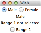 Selection Widget Example