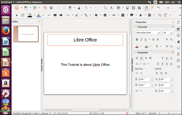 LibreOffice Interface
