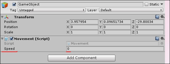 Unity - Basic Movement Scripting - Tutorialspoint