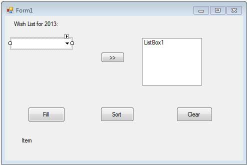 VB Net - ComboBox Control - Tutorialspoint