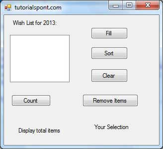 Result Form List Box Example 2