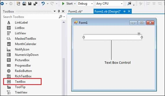 VB Net - TextBox Control - Tutorialspoint