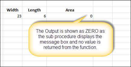 Calculate Area Sub 3 in VBA