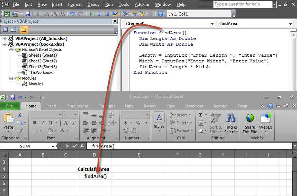 VBA - InputBox - Tutorialspoint