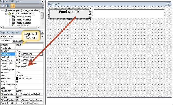 VBA - User Forms - Tutorialspoint