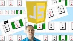JavaScript Card War Game Project Course Image