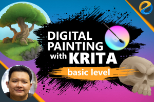 Digital Painting With Krita: Basic Level Image