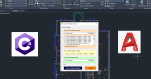 AutoCAD Programming using C# with Windows Forms Image