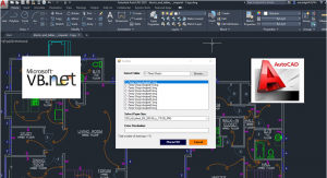 Developing AutoCAD Plugins using VB.NET with Windows Forms Image