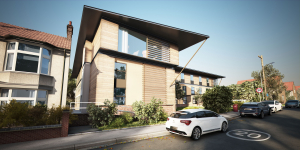 3d Rendering of an exterior scene with 3ds max, V-Ray and Photoshop Image
