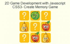 2D Game Development with Javascript & CSS3- Create Memory Game Image