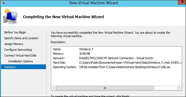 Virtualization 2 0 - Microsoft Hyper-V - Tutorialspoint