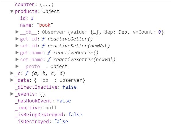 VueJS - Reactive Interface - Tutorialspoint