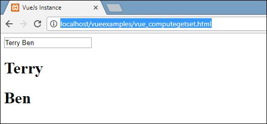VueJS - Computed Properties - Tutorialspoint