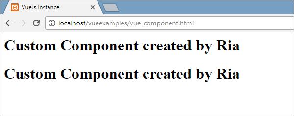 VueJS - Components - Tutorialspoint