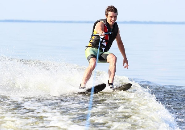 Water Skiing Two Skis