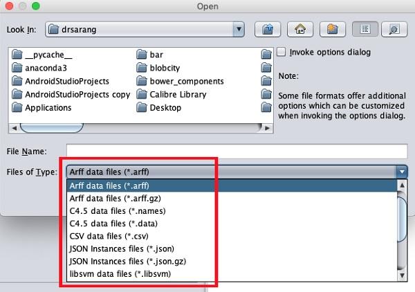 Weka - File Formats
