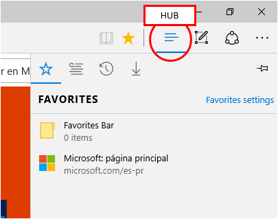Hub Button