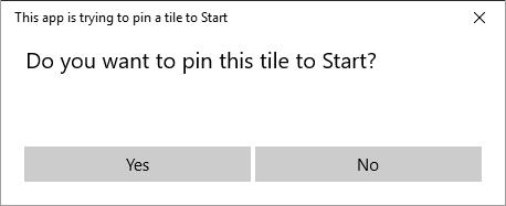 Pin to Start