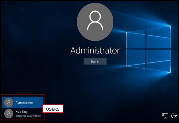 User Accounts Screen