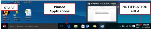 Windows 10 Taskbar