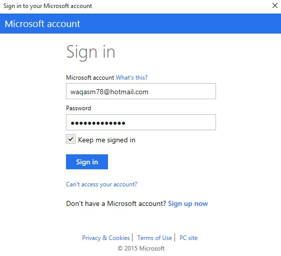 Add Microsoft Azure Account