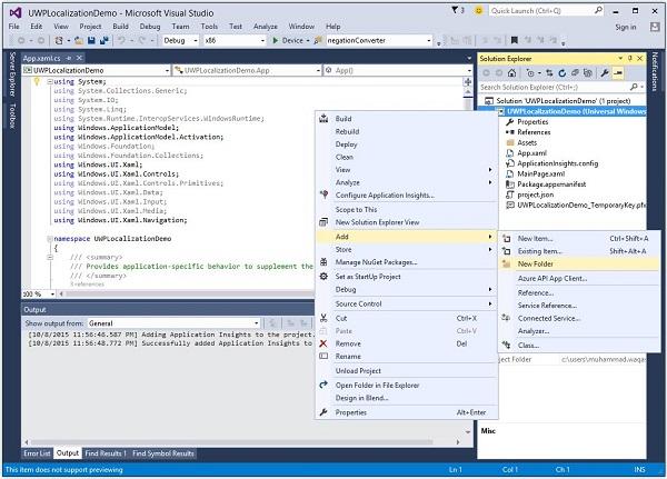 Windows 10 Development - Localization