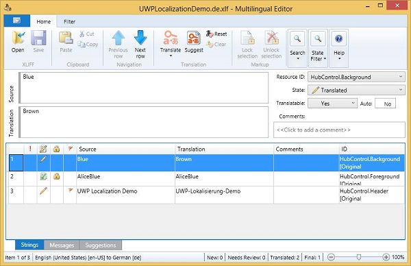 Localization Multilingual Editor